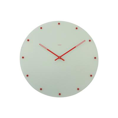 Degree White Dotted Glass Clock 35cm