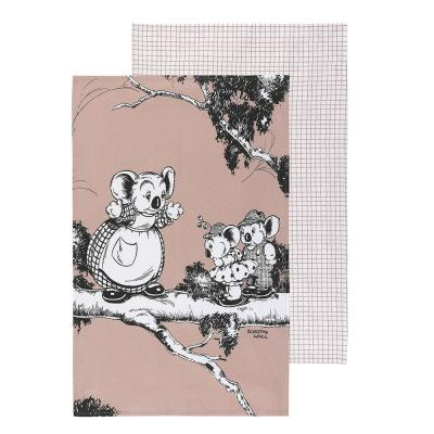 Ecology Blinky Bill Tea Towels Coral Set of 2