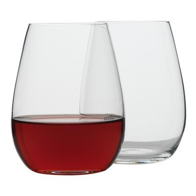 Ecology Otto European 460ml Clear Stemless Red/White Wine Glasses Set - 8pc