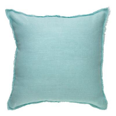 Ecology Opal Stonewash Linen Cushion 45cm