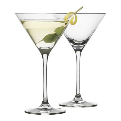 Ecology Classic 210ml Martini Cocktail Glass/Party Drinking Glasses Clear (Set of 4pcs)