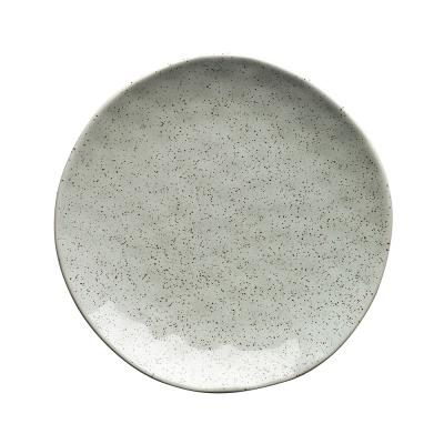 Ecology Speckle Side Plate Duck Egg 21cm