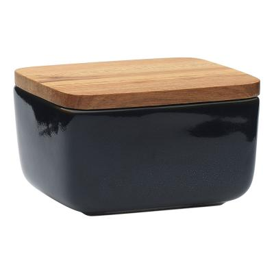 Ecology Mineral Butter Dish Midnight 14.5cm x 13cm