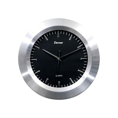 Clocks Derwent Alum Black Clock 30cm