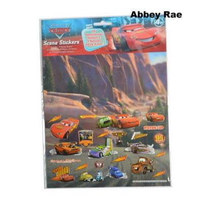 Disney Cars Sticker Scene Removable Stickers New Licensed