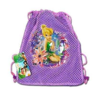 Disney Fairies Tinkerbell Sling Bag Girls drawstring backpack New Licensed Purple