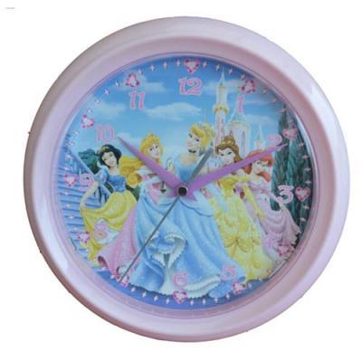 Disney Princess Wall Clock GIrls Bedroom Decor Ariel Snow White Belle New Licensed