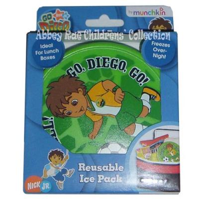 Go Diego Go Ice Pack Lunch Bag Ice Cooler Cold Pack New Licensed