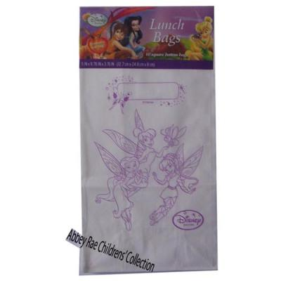 Disney Fairies Paper Lunch Bag Party Favour colour in Bags 10 pack New Licensed