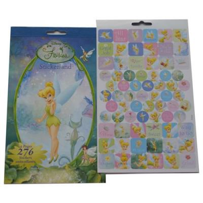 Disney Fairies Sticker Pad 4 pages 200+ Tinkerbell Stickers Licensed