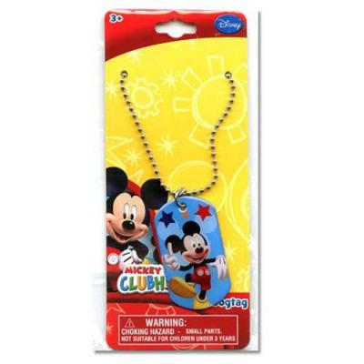Disney Mickey Mouse Dog Tag Necklace Boys Accessories New Licensed