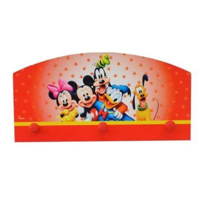Disney Mickey Mouse Peg Wall Hanger Wooden