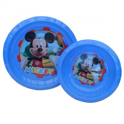 Disney Mickey Mouse Kids Plastic Plate Bowl Set New Licensed BPA free