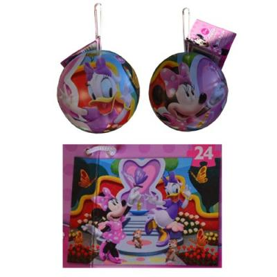 Disney Minnie Mouse Jigsaw Puzzle in a Tin Christmas Ornament 24 Piece New Licensed