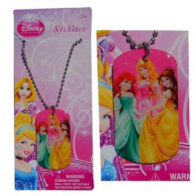 Girls Metal Charm Necklace Disney Princess Ariel Belle Aurora New Licensed