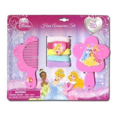 Disney Princess Comb Mirror Hair Ties Girls Accessories New Licensed