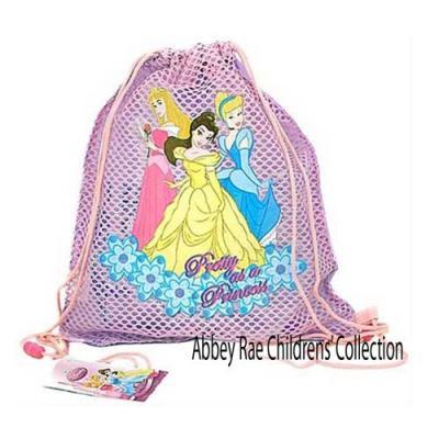 Disney Princess Sling Bag Girls drawstring backpack New Licensed Pink