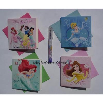 Disney Princess Gift Cards & Gel Pen