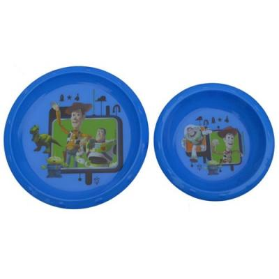 Disney Toy Story Plate Bowl Set Kids plastic dinnerware New Licensed PBA Free