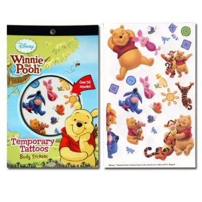 Disney Winnie the Pooh Tattoo Pad 50+ Tattoos 4 Pages New Licensed