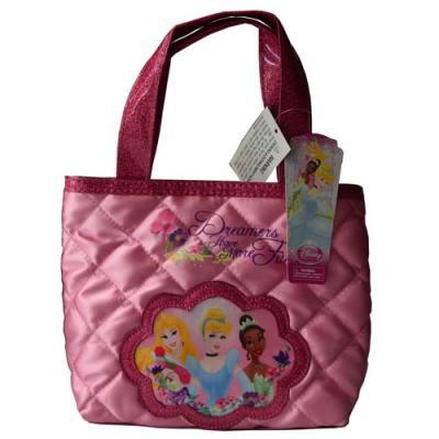 Disney Princess Satin Quilted Handbag Girls Bag New Licensed