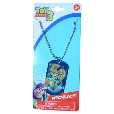 Disney Toy Story Dog Tag Necklace Metal Charm Necklace Buzz Woody New Licensed