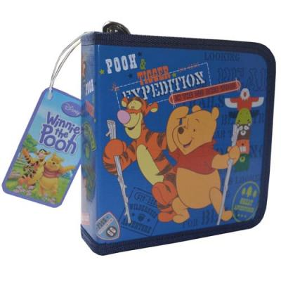 Disney Winnie the Pooh CD Case DVD Storage Wallet New Licensed Blue