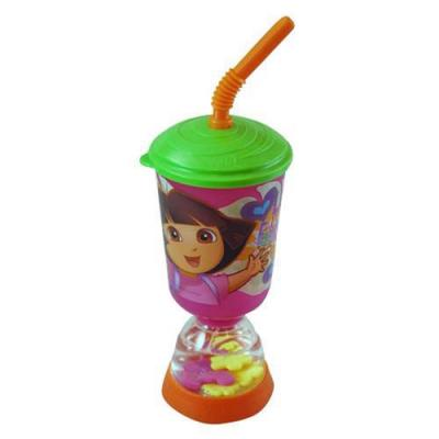 Dora the Explorer Snow Globe Cup Girls Fun Floats Cup with Straw New Licensed