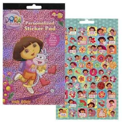 Dora the Explorer Sticker Pad 4 Pages Dora Stickers 200+ New Licensed