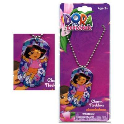 Dora the Explorer Necklace Metal charm Dog Tag Necklace New Licensed