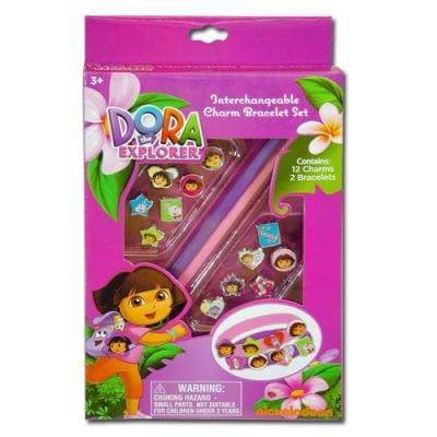 Dora the Explorer girls charm Bracelets Interchangeable charms New Licensed