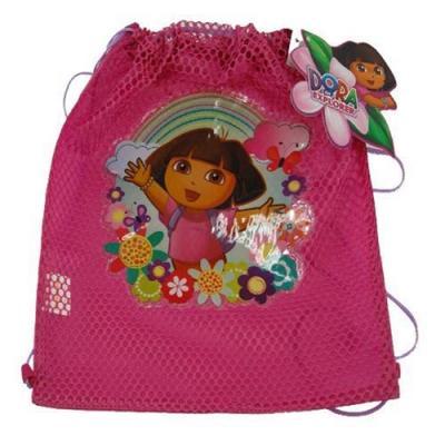 Dora the Explorer Sling Bag Girls drawstring backpack New Licensed Pink