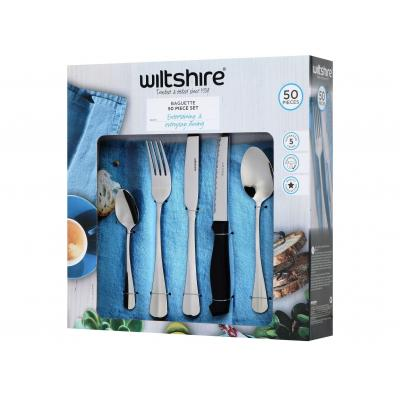 WiltShire Baguette 50 Piece Cutlery Set