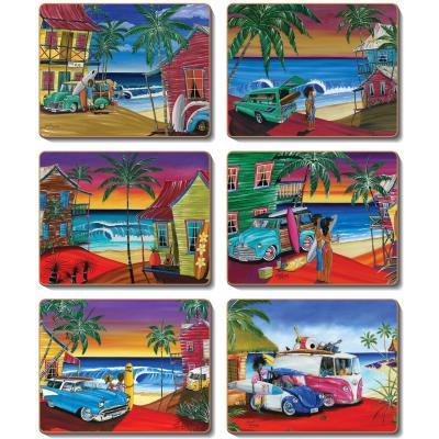Cinnamon Wish You Were Here Cork Backed Coasters | Set of 6pcs