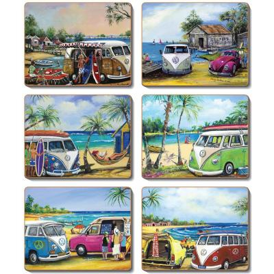 Cinnamon Kombi Cork Backed Coasters | Set of 6pcs