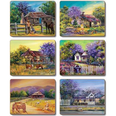 Cinnamon Jacaranda House Coasters