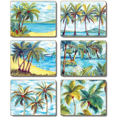 Cinnamon Palm Trees Coasters