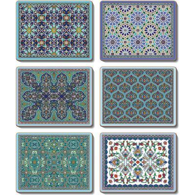 Cinnamon Dubai Cork Backed Coasters | Set of 6pcs