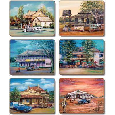 Cinnamon Old Hotels Coasters