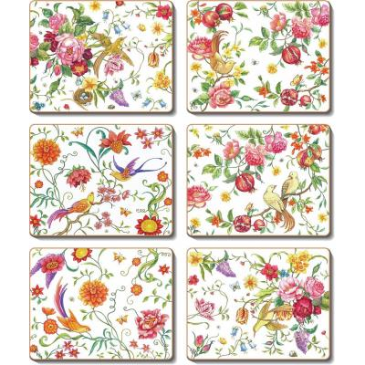 Cinnamon Garden Paradise Cork Backed Placemats | Set of 6pcs
