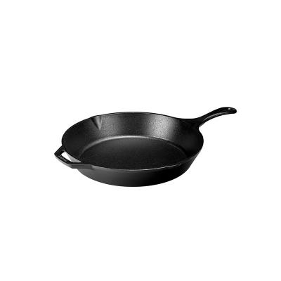 Lodge 13.25 Inch / 34cm Cast Iron Skillet with Helper Handle