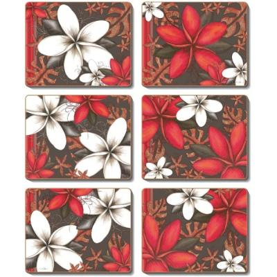 Cinnamon Essence Cork Backed Coasters | Set Of 6pcs