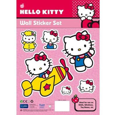 Hello Kitty Removable Wall Stickers New Licensed Great Room Decorations