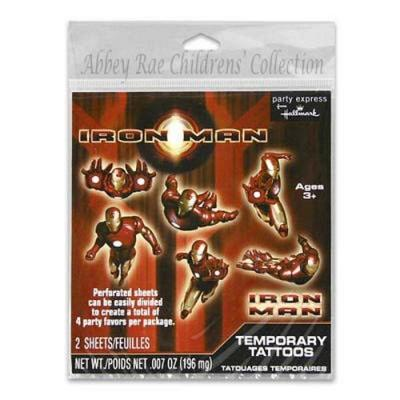 Iron Man Tattoos - 12 Pack
