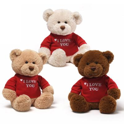 Gund 319714 Message Bear I LOVE YOU - CREAM