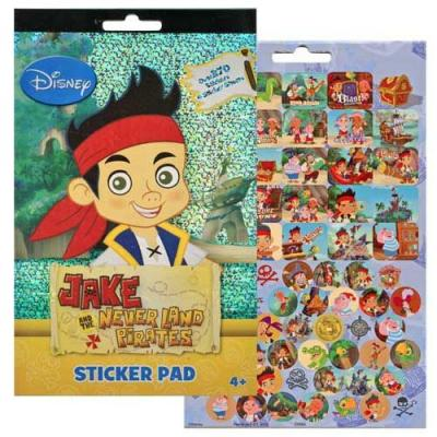 Disney Jake and the Never Land Pirates Sticker Pad 4 Pages Licensed