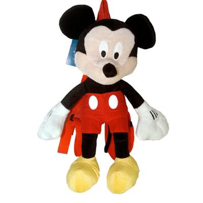 "Disney Mickey Mouse Plush Backpack 16"" High Mickey Plush Doll Bag New Licensed"