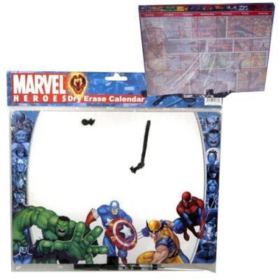 Marvel Heroes Message Board & Calander 2 Sided Memo Dry Erase Board New Licensed