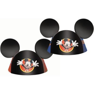 Disney Mickey Mouse Party Hats - 8 Pack