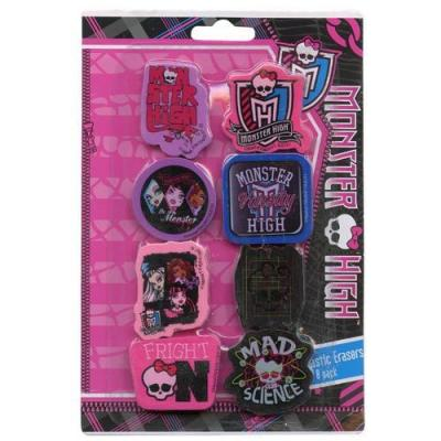 Monster High Erasers Stationery Party Favours 8 Pack New Licensed